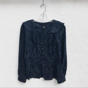 {Marc by Marc Jacobs} Silk Normandy Blue Blouse! 4